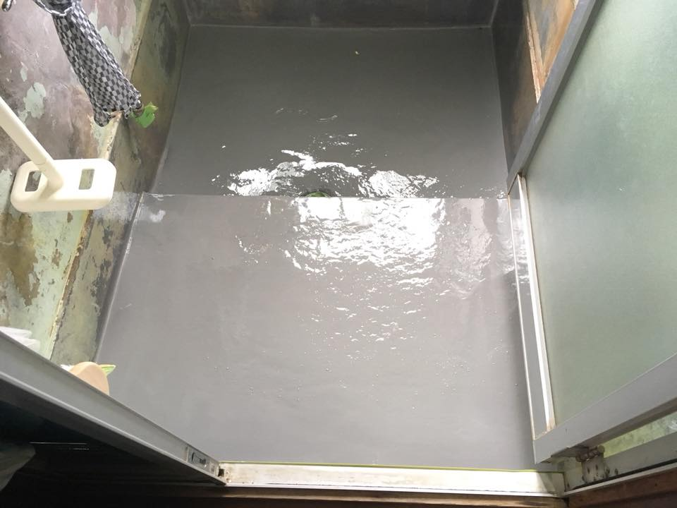 防水材 塗布状況